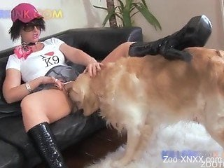 Playful whore and hot doggy in awesome amateur bestiality action