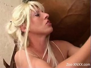 Big boobs blonde getting ass-blasted by a stallion