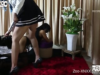 Big booty Latina in pink gets drilled on all fours