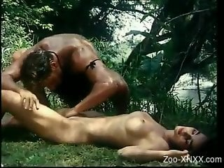 Horny couple fucks in outdoor and shares passion