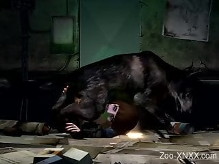 Elizabeth from Bioshock gets throated by a dog