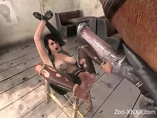 Quiet from MGS gets fucked savagely by a 3D horse