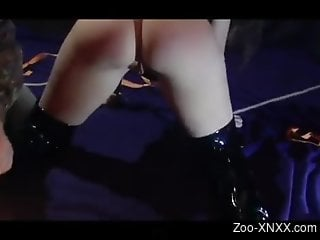 Masked chick getting throat-fucked by her sexy pet